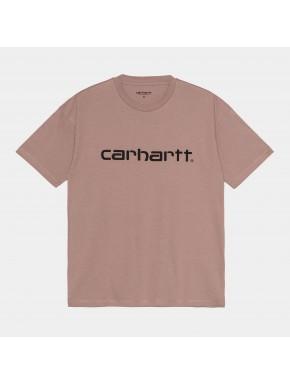 CARHARTT W´S/S SCRIP EARTHY PINK