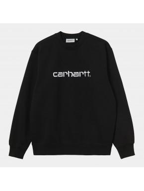 CARHARTT SWEAT BLACK/WHITE