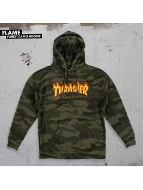 THRASHER FLAME HOOD CAMO